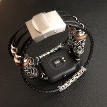 Uhr Strap für Huami Amazfit Bip Echtem Leder Uhr Band Armband für Samsung Galaxy Uhr 42mm Strap für Garmin vivoactive3