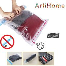 Hand Rolling Compression Vacuum Bag Border Foldable Compressed Home Clothes Plastic Storage Space Saving Seal Bags