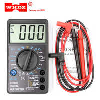WHDZ DT 700D Mini Digital-Multimeter Überlast schutz Summer Große Bildschirm Platz Welle Ausgang Voltmeter Ampere Ohm Tester