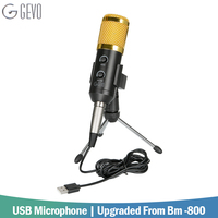 GEVO BM 900 Condenser USB Microphone Wired With Tripod Mic For Computer Recording PC Singing Studio Karaoke Upgraded From BM 800