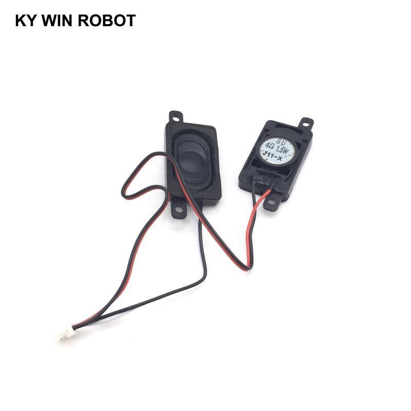 1 Pair Notebook Speaker Horn 1.5W 4R 2716 1627 Loud Speaker 4 Ohms 1.5 Watt 4R 1.5W 27*16MM Thick 6MM With Terminal Wire