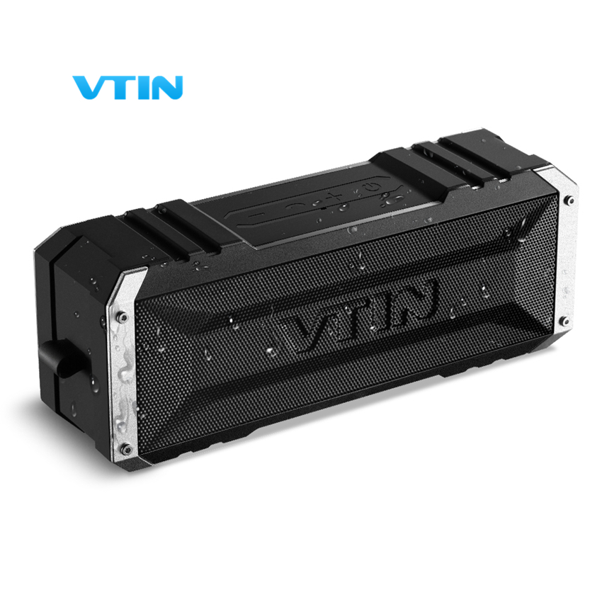 VTIN Portable Wireless Bluetooth Speaker 20W by dual ten drivers Water resistant speaker Bass with Mic