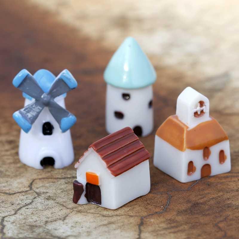 House Castle Miniature Fairy Garden Landscape Terrarium Figurine Bonsai Craft Decoration