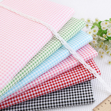 160CM*50CM small plaid grid 100% cotton bedding  fabric bed sheet duvet cover quilt pillowcase curtain sewing patchwork fabric