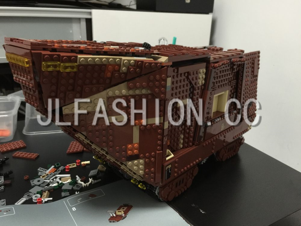 LEPIN 05038 3346Pcs Star Wars Force Awakens Sandcrawler Model Building Blocks Kids Brick Toys Children Gift Compatible 75059 lepin 02012 city deepwater exploration vessel 60095 building blocks policeman toys children compatible with lego gift kid sets