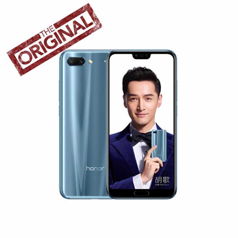 Ehre 10 4G 128G Android 8,0 24,0 MP AI Kamera 3D Gebogene Glas Kirin 970 AI Prozessor 5,8 zoll 2280x1080 4G LTE smartphone