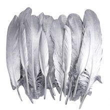 Gold Silver Dipped Goose Feather Duck Pheasant Feathers for Crafts Jewelry Making Clothing Plumas Turkey