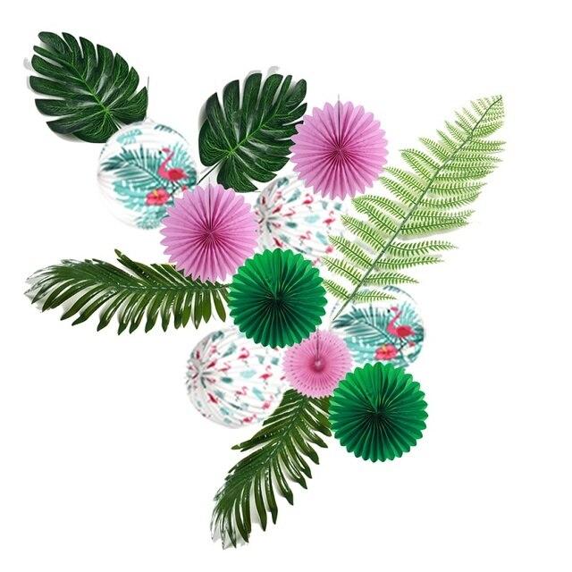 Leaf For Hawaiian Luau Theme Party Flamingo Paper Lantern Decoration