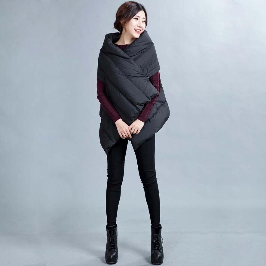 Módní Variety Styly dámská vesta Solid Black White Duck Down Vest Dámská zimní vesta kabát