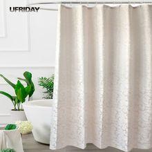 UFRIDAY Wasserdichte Stoff Dusche Vorhang Blätter Jacquard Polyester Bad Dusche Vorhänge Europäischen Elegante Dicke Bad Vorhang