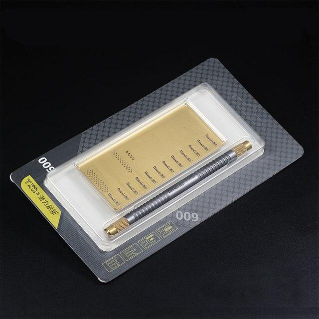 Qianli CPU Scheda Madre di Riparazione Della Lama di A8 A9 A10 A11 Burin Per Rimuovere Il Telefono ic Coltelli Per il iPhone Ic Chip di Riparazione sottile Lama di Strumenti di