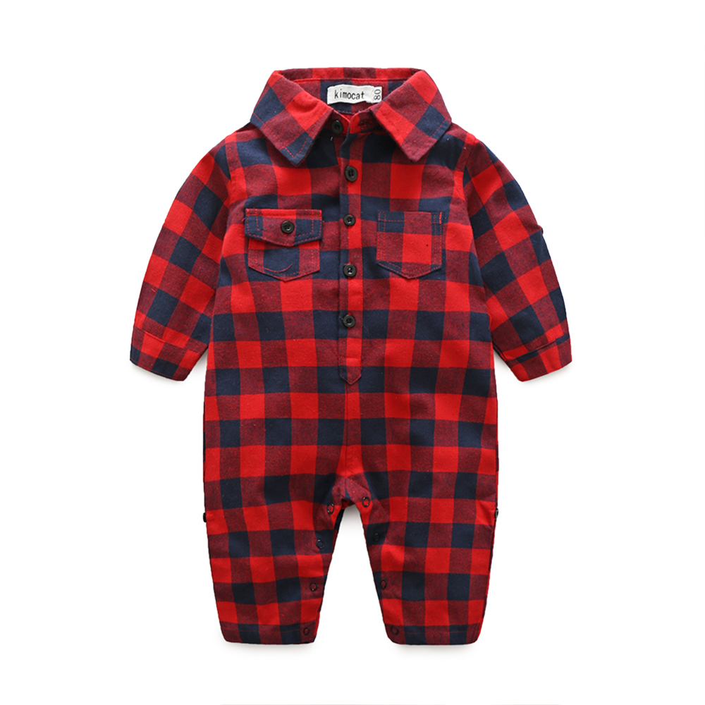 Plaid-bebes-clothes-baby-clothes-long-sleeve-lapel-baby-romper-newborn-cotton-baby-costume-baby-boys-newborn-clothes-3