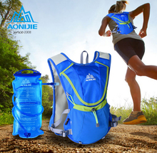 AONIJIE Running Backpack Package Female Marathon Cycling Bags Running Vest Sport Bag Waterproof Nylon Bag With 1.5L Water Bag