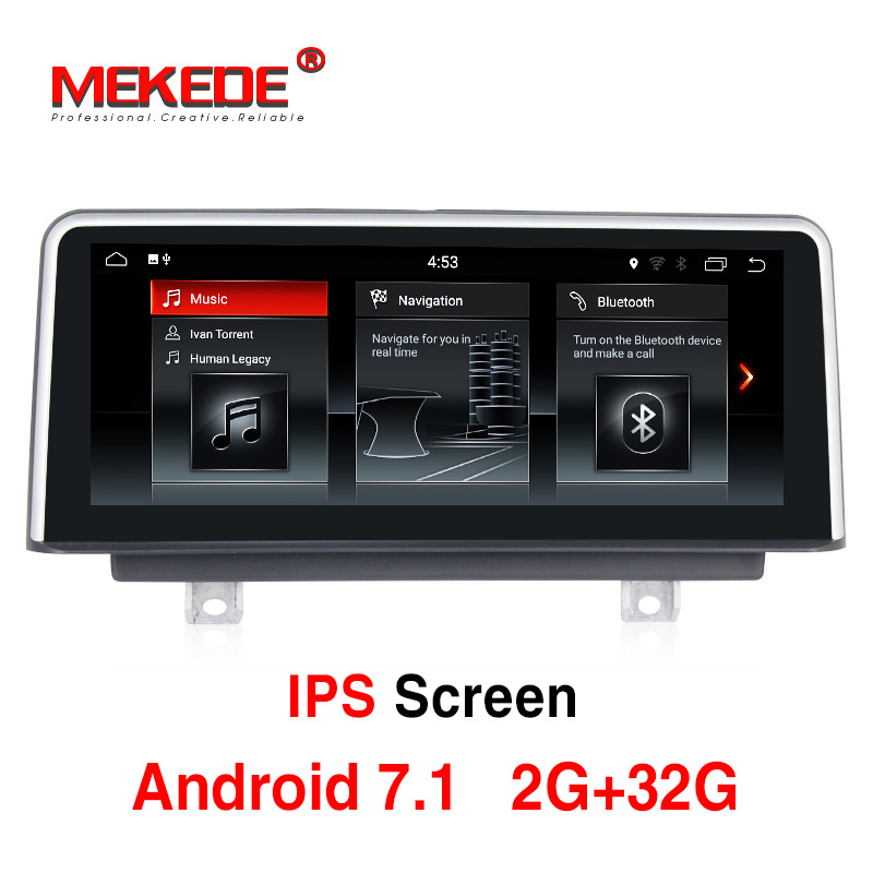 10.25 px3 Android 7.1 Voiture Lecteur Multimédia GPS Navigation pour BMW 3 Série F30 F31 F34 2010-2013 avec USB Stéréo iDrive 4 Core