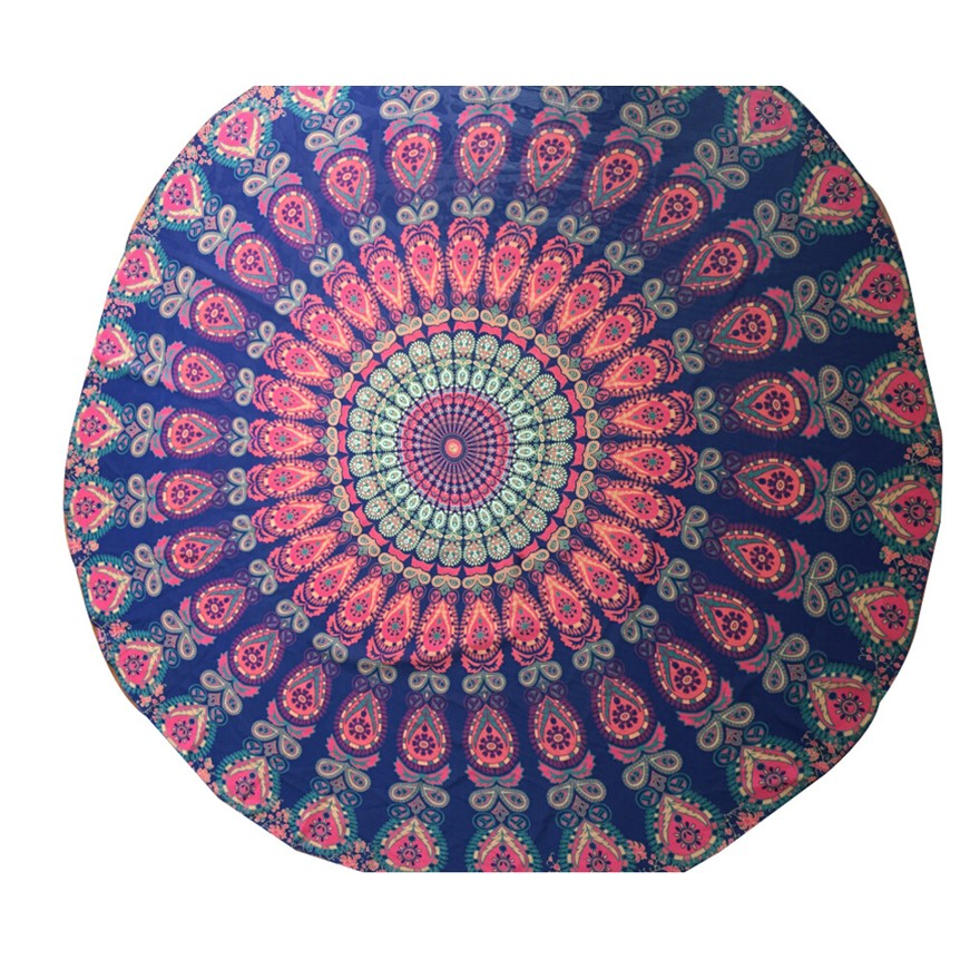 Happy Sales Best Quality Summer Round Beach Pool Home Shower Towel Blanket Table Cloth Yoga Chiffon Mat Aug29