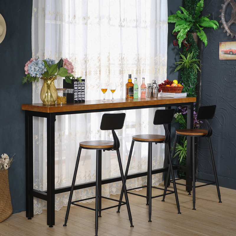 Stupendous New European Bar Stool Solid Wood Bar Stool Home Retro Back Machost Co Dining Chair Design Ideas Machostcouk