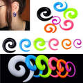 12pcs New fashion   Acrylic Spiral Taper Flesh Tunnel Ear ring Stretcher Expander Plug Twirl jewelry