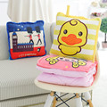Kids Blanket Cartoon Air Conditioning Blanket and Baby Soft Pillow Dual-use Pillow Blanket