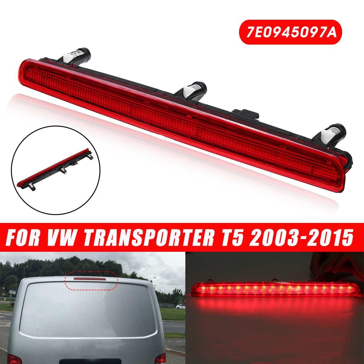 Voiture LED 3rd troisième feu Stop feu arrière rouge 12 V 7E0945097A pour VW Transporter T5 2003-2015