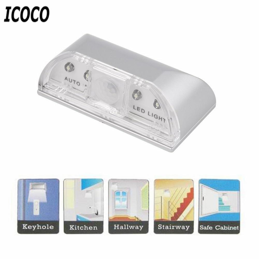ICOCO 1 stücke 4 LED IR Sensor Licht Auto PIR Infrarot Hause Tür - Nachtlichter - Foto 5