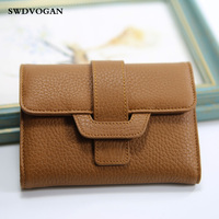 Luxury Genuine Leather Women Wallets Coin Pocket Soft Trifold Wallet Clutch Purse Female Credit Card Holder