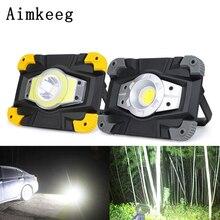 Aimkeeg USB перезаряжаемый светодиодный рабочий свет COB Портативный прожектор Водонепроницаемый
