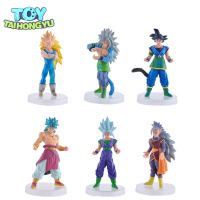 TAIHONGYU 6pcs Dragonball AF Goku Vegeta Gashpons Set Broly Supreme Kai Action Figure Toy