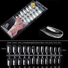 BellyLady 240 шт./компл. прозрачный натуральный Полное покрытие, длинный псевдо ожерелье Маникюр для кончиков ногтей Искусственные ногти салон