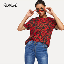 ROMWE Leopard Print Tee 2019 Chic Stylish Short Sleeve Women