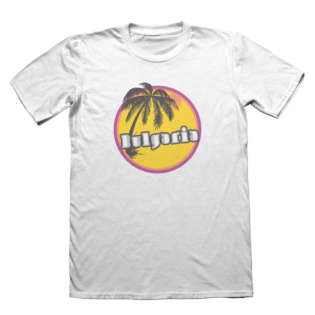 Bulgaria Sunset Beach T-Shirt - Mens Fathers Day Christmas Printed T Shirt Short Sleeve Men High Quality For Man Better