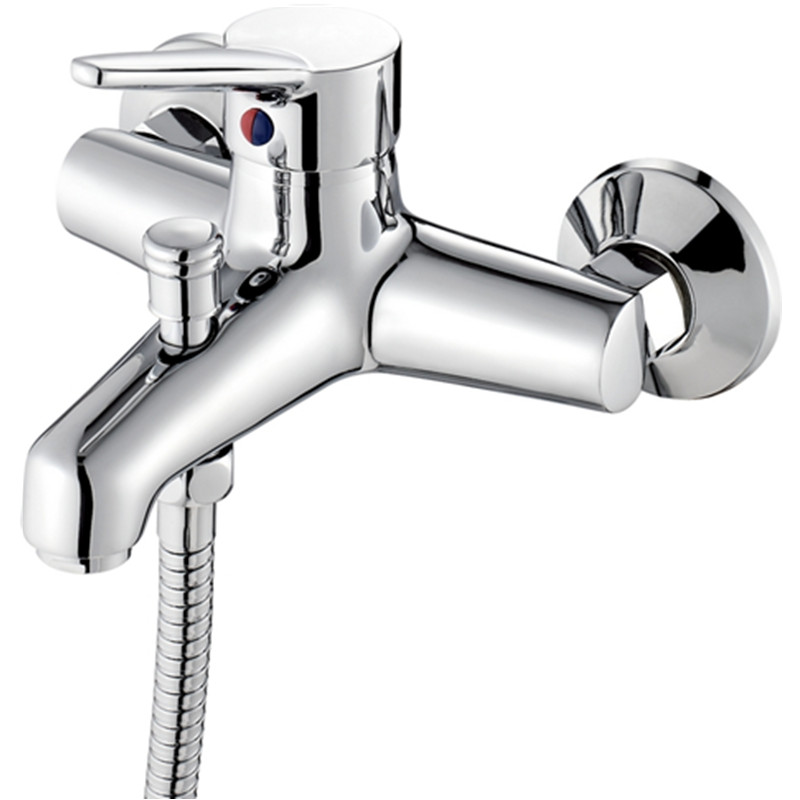 Bath & Shower Faucets Square Wall Mounted Waterfall Spout Bathroom Bath Handheld Shower Tap Mixer Bathtub Faucet Free Shipping