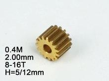 RC Model Metal Pinion Gear 0 4M 2 0mm hole diameter 8T 9T 10T 11T 12T