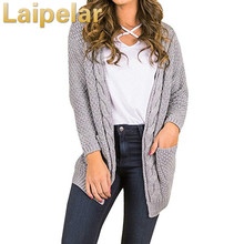 Laipelar Knitting long cardigan female Casual soft loose plus size knitted sweater 2018 autumn winter jumper