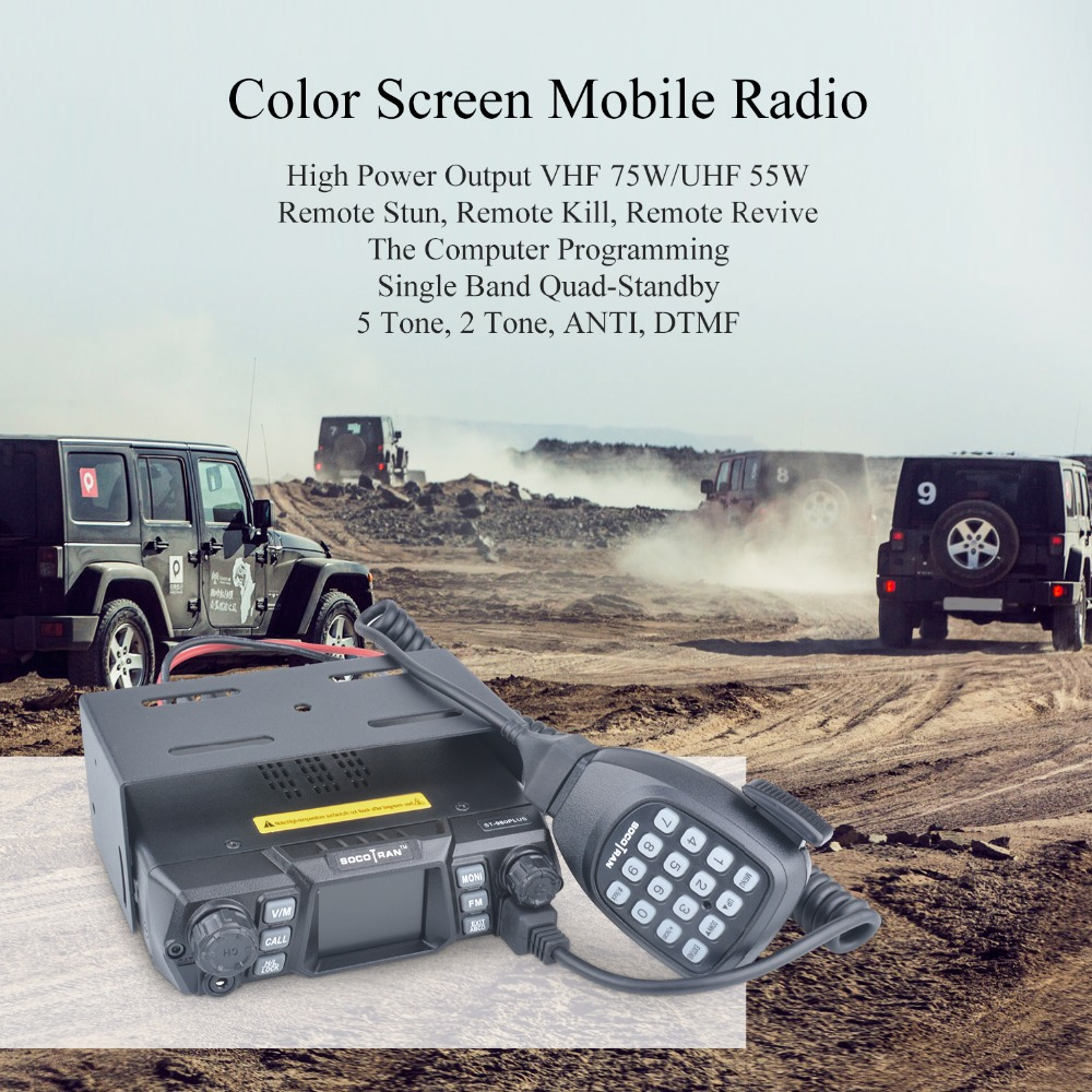 Image 5 - Mobile Ham Radio Transceiver VHF 75W UHF 55W High Power Mobile Car Radio Dual Band Quad Standby Vehicle Transceiver Station-in Walkie Talkie from Cellphones & Telecommunications