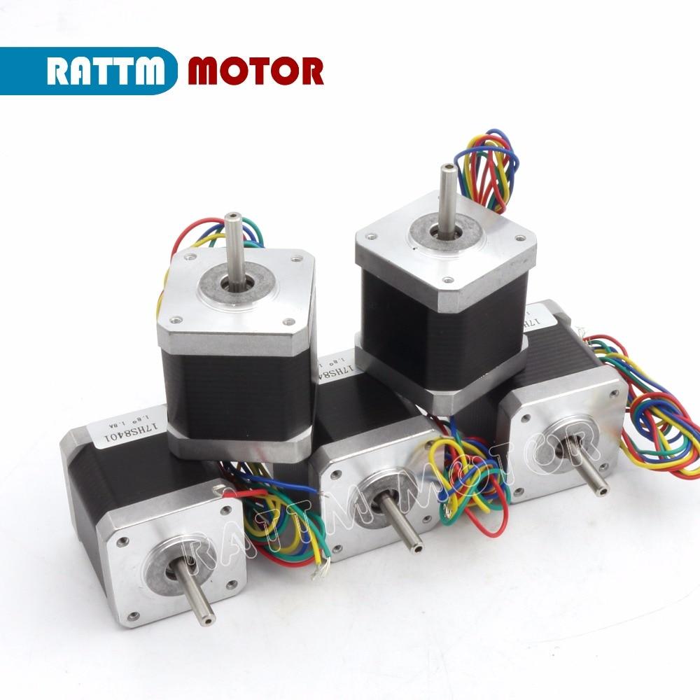 Ukraine Delivery! 5PCs Nema17 48mm CNC stepper motor 78Oz-in/1.8A stepping motor Router Milling Machine Engraver 3D Print RATTM цены онлайн