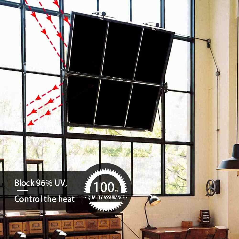 30 100 Cm Total Blackout Window Film Light Blocking Room Darkening Static Cling Tint For Privacy Day Sleep Stops Uv