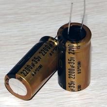10pcs original Japan nichicon FG audio capacitor 2200uf35v 18*35.5 audio super capacitor electrolytic capacitors free shipping