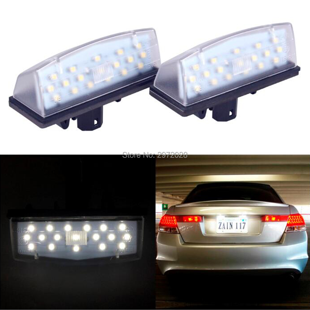 2x Lexus LS Bright Xenon White LED Number Plate Upgrade Light Bulbs