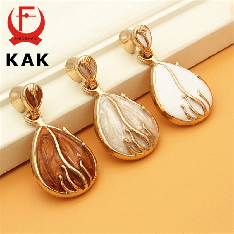 KAK Oval Ring Shape Zinc Alloy Handles Wardrobe Cabinet Handles Knobs Pulls Modern Fashion Furniture Handles