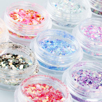 Candy Lover 12 Colors UV Gel Acrylic DIY Glitter Decoration Nail Art Sequins Powder Set For