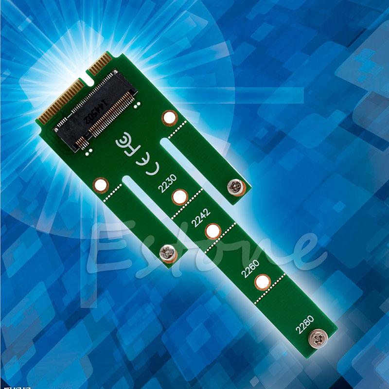 Mini NGFF M.2 B Key SATA-Based SSD to PCI-e mSATA Adapter Card 2230 2242 2260/80 #K400Y# DropShip wbtuo lm 211n v1 0 msata to m 2 ngff ssd adapter card green