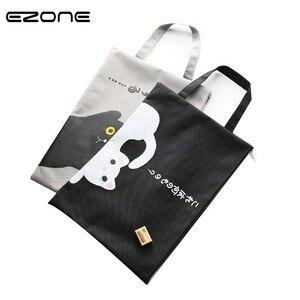EZONE 1 pièce A4 Document sac chat dossier sac Kawaii plus grand Simple Oxford tissu haute qualité Documents dossier fournitures papeterie