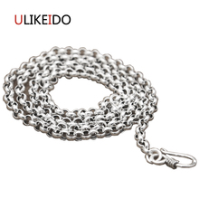 Real 925 Sterling Silver Jewelry Pendant Fashion Unisex Chains Necklace For Men And Women Round Bead Chain New Longer Gift 347 цена