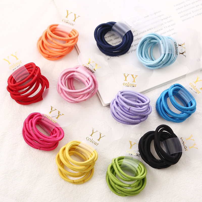 New Cute 10pcs Girls Ponytail Hair Holders   Headwear   Candy Colored Elastic Holders Fashion Accessories Kids Rubber Bands Tie Gum