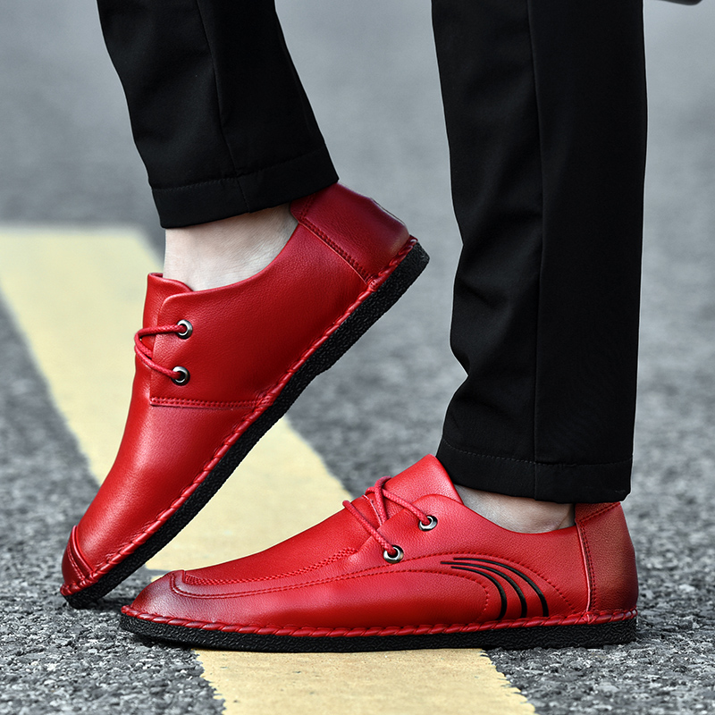 2019 fashion trend men 39 s shoes causal leather breathable spring amp autumn shoe man youth comfortable driving platform shoes for men in Men 39 s Casual Shoes from Shoes