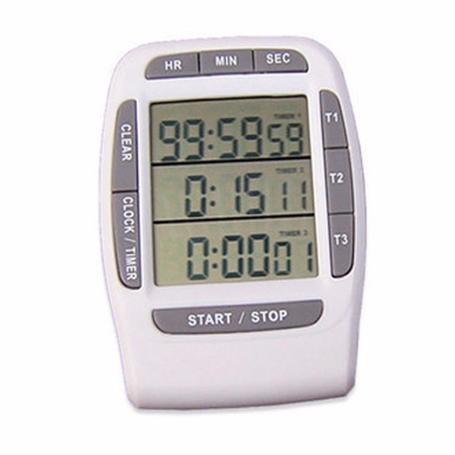 Digital Kitchen Timer, Cooking Timer, Loud Timer, Multichannel White Beauty  Games Kitchen White