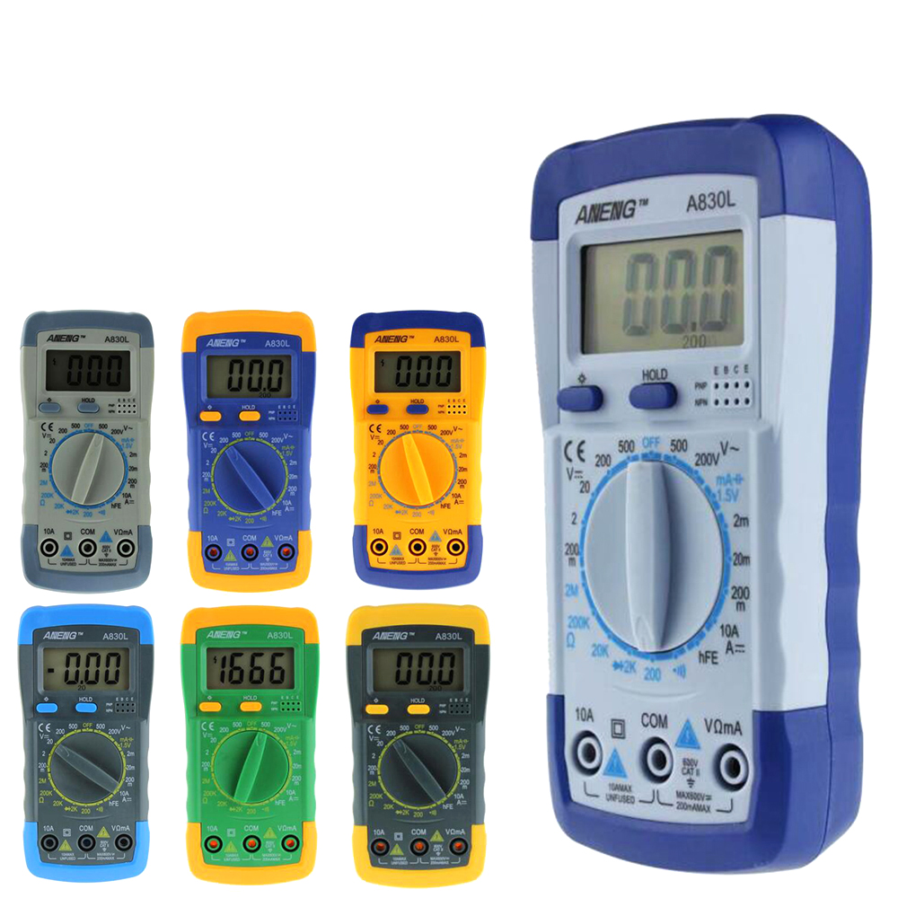 Multimeter Stores Store ANENG A830L digital multimeter LCD Digital Multimeter DC AC Voltage Diode Freguency Multitester 5#