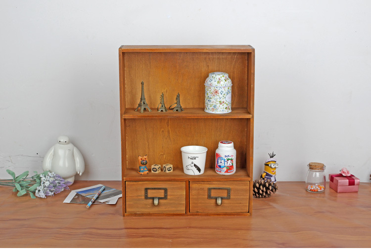 1pc Z Grocery Wooden Storage Cabinet Box Retro Lockers Hanging Home Furnishing With 2 Drawers Jl 0945 In From