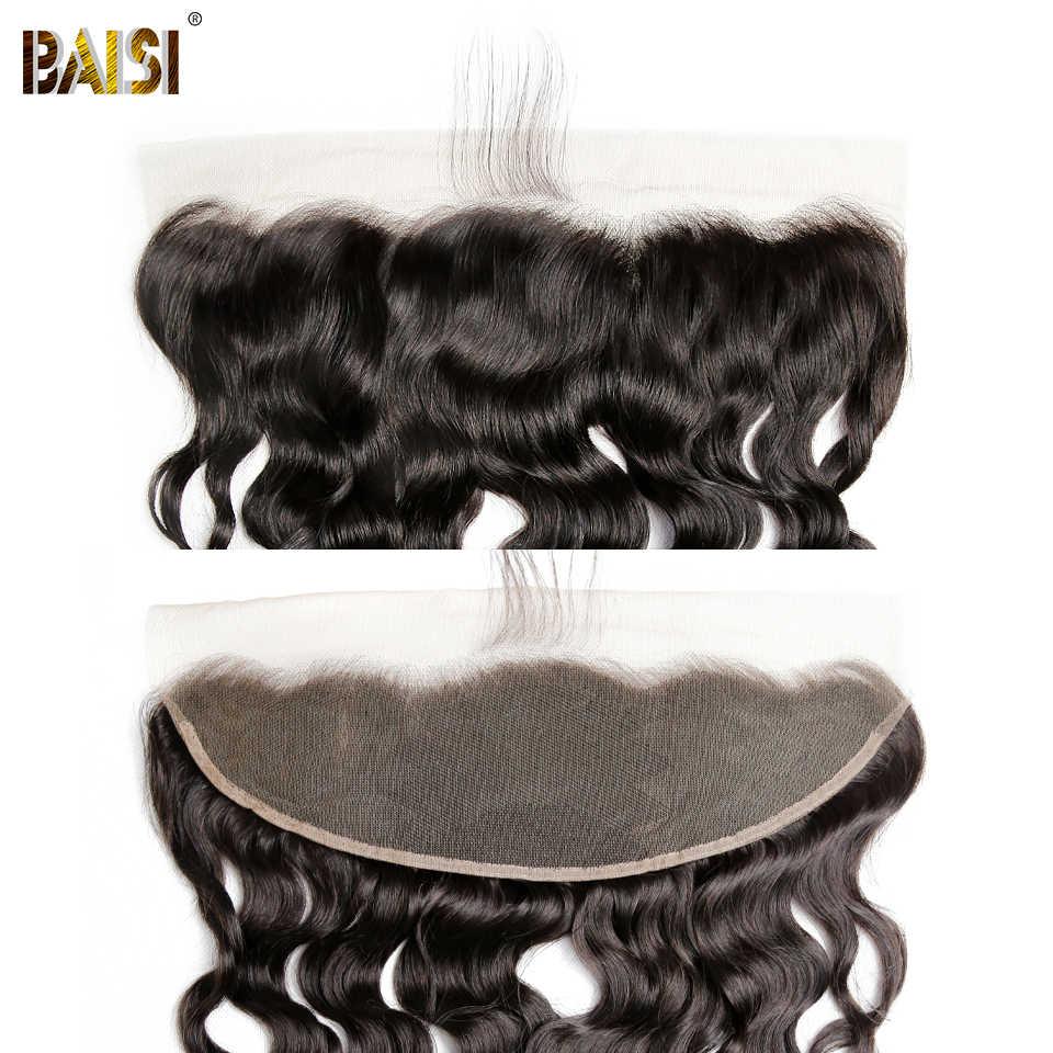 BAISI brezilyalı su dalgası insan saçı örgüsü kapatma ile 4 demetleri bakire saç demetleri ile kapatma