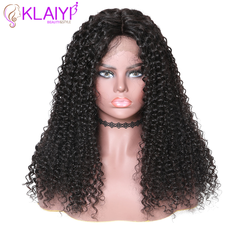 Klaiyi Hair Curly Hair Lace Front Wigs 13 6 Inch Brazilian Remy Hair With Pre Plucked